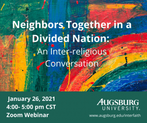 Neighbors Together in a Divided Nation: An Inter-religious Conversation